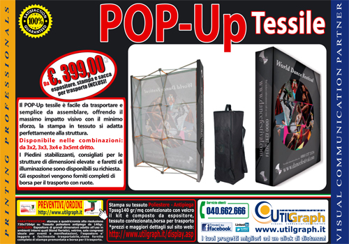 Utilgraph.it - POP-Up tessile Promo 20pc